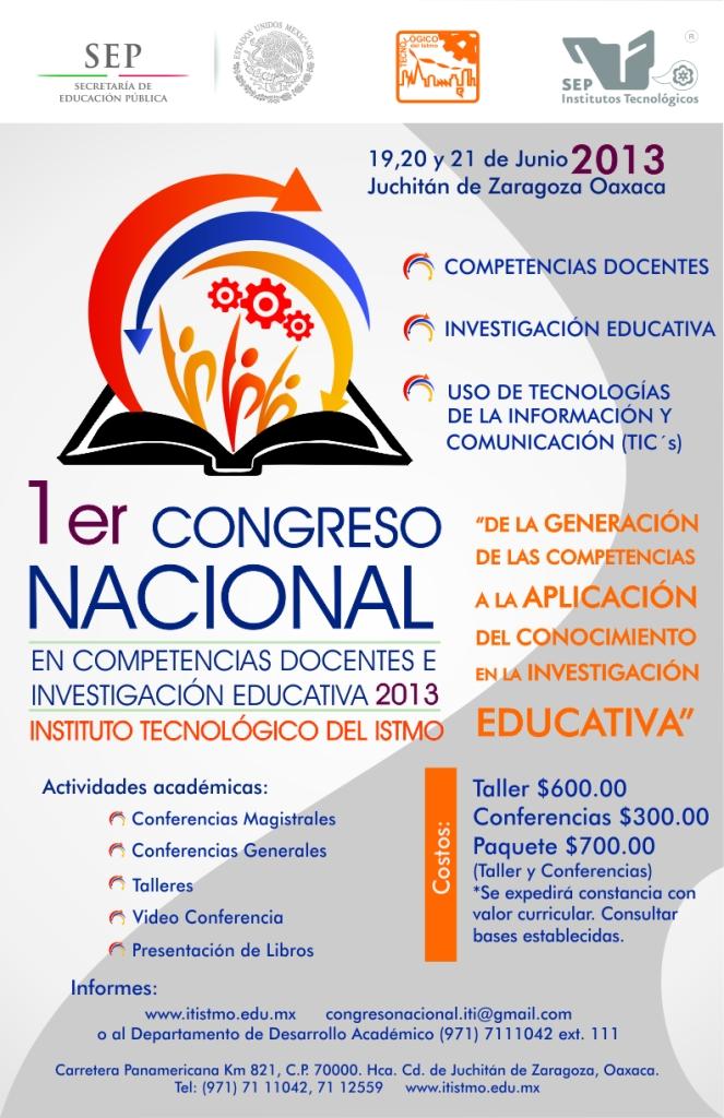 Cartel Congreso Nacional Docentes 2013
