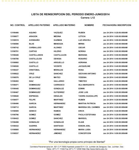 LISTA INGENIERÍA EN GESTIÓN EMPRESARIAL(L12) ENERO-JULIO 2014-1